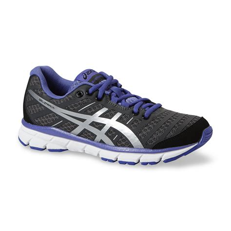 asics s gel zaraca 2 grey black purple running shoe