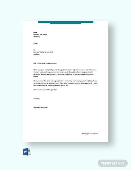 termination letter templates microsoft word