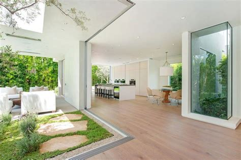 home interior garden house with multilevel decks surrounded by gardens