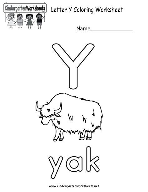 printable letter y worksheets for preschool free printable letter y coloring worksheet for kindergarten