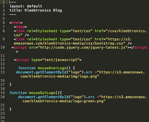Jekyll Layout For Blog | kleebtronics