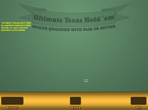 practice ultimate texas holdem  real money   wizard  odds