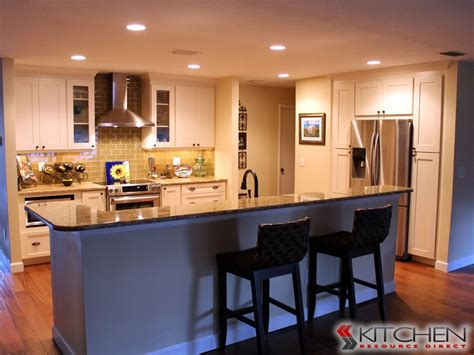 kitchen island with bar seating cabinets by kitchen resource direct ta fl 33606
