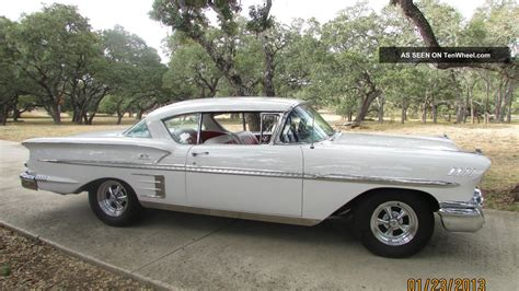 power chevrolet 1958 chevy impala 348 tri power automatic