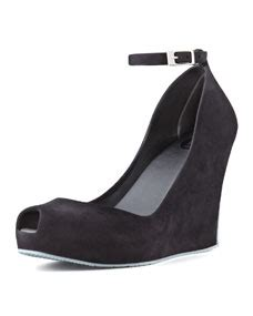 Wedges Ankle Black Preorder shoes patchouli vi ankle wedge black gray