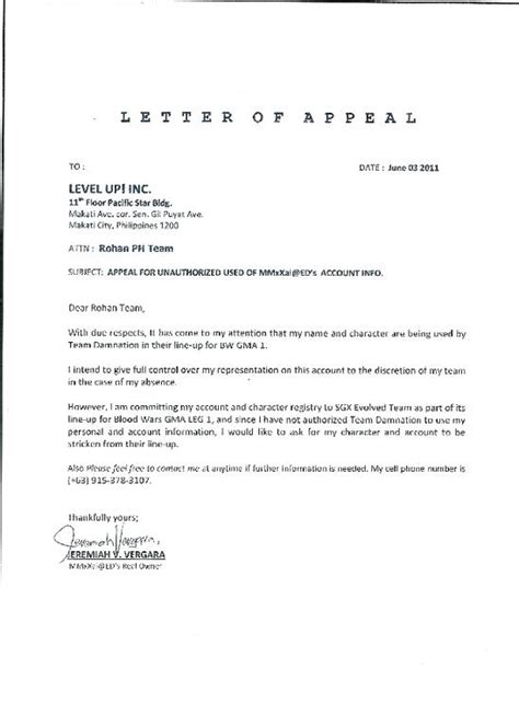 Appeal Letter For College Financial Aid Exles sle appeal letter resume template sle