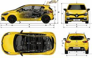 Renault Clio Dimensions 2013 The Blueprints Blueprints Gt Voitures Gt Renault