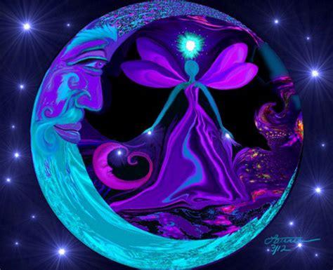 moon stars art fairy fantasy night sky reiki healing