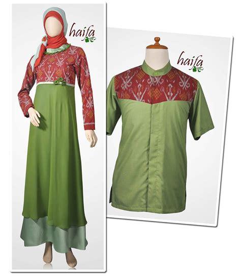 Gamis Wolvis Kombinasi Batik sarimbit keluarga muslim non batik haifa baru rumah