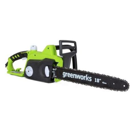 greenworks 18 in 14 5 electric chainsaw gw20332 the