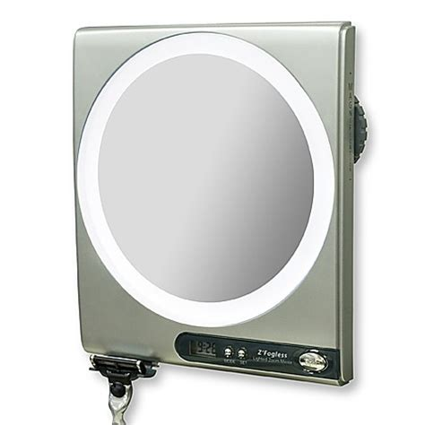 Z Fogless 5x 1x Power Zoom Lighted Shower Mirror Bed Fogless Bathroom Mirror