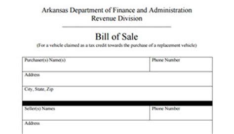 arkansas bill of sale