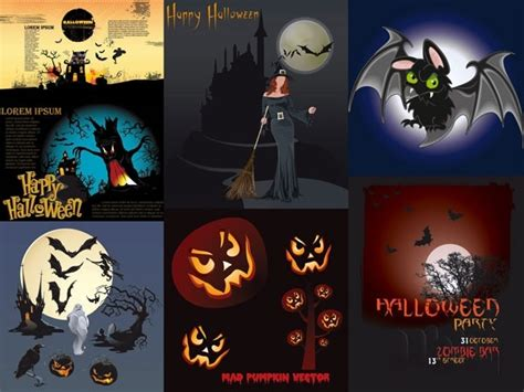 halloween themes vector halloween theme vector amendment free vector in