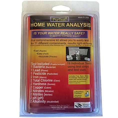 purtest home water test kit 11 contaminants new