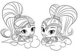 shimmer shine coloring pages coloring pages