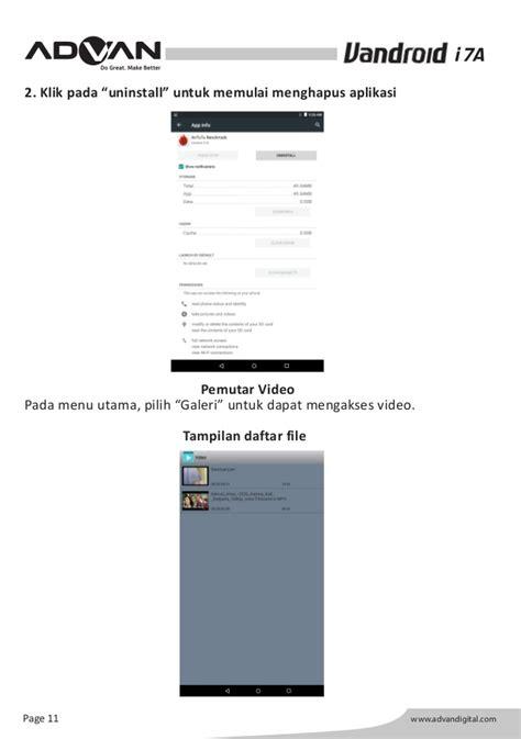 Advan I7a petunjuk penggunaan tablet android advan i7a