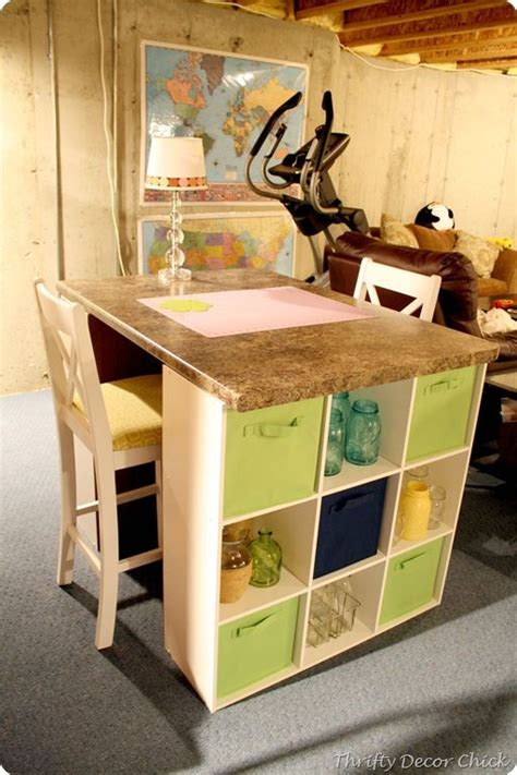 Diy Craft Desk With Storage Diy Craft Table Furniture Redo Pinterest