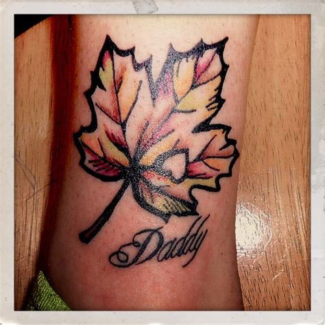cut out tattoo designs autumn leaf by tattootarot the cut out