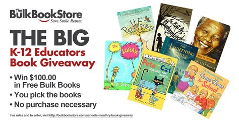 Free Book Giveaway - bulk bookstore s free books for teachers giveaway heats up