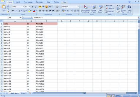 cara membuat label undangan 103 dengan excel cara membuat label undangan praktis dengan template format