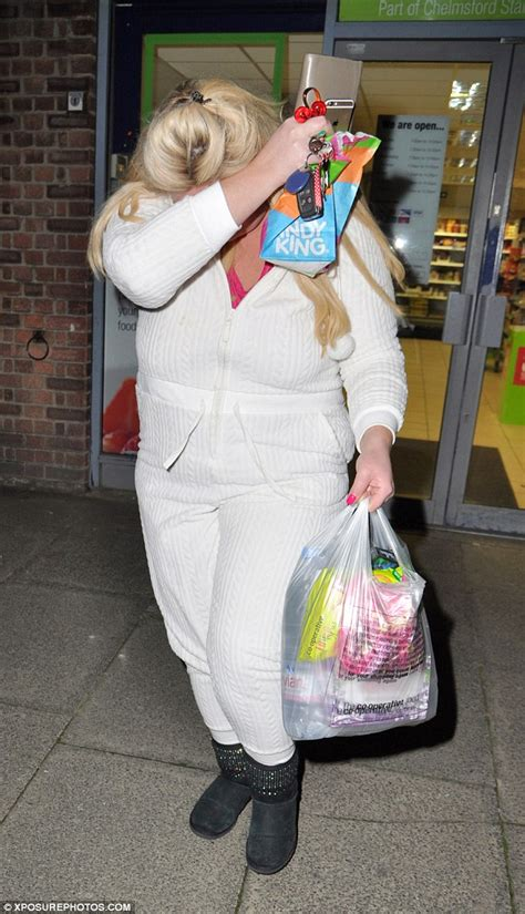 All I Want For Gemma Stocks Up On by Gemma Collins Stocks Up On Late Snacks Daily Mail