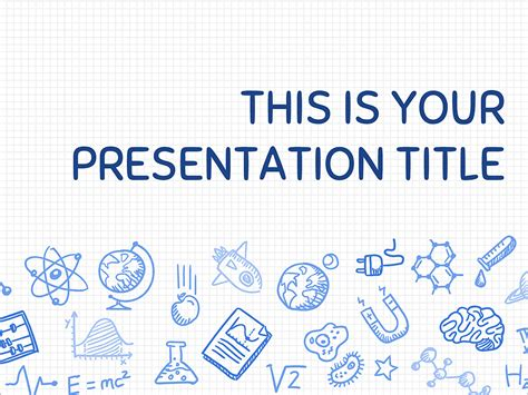 Free Presentation Template Playful Science Science Powerpoint Templates Free
