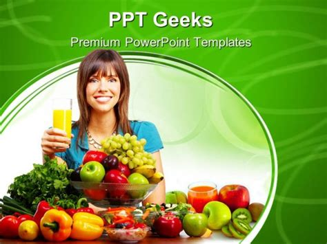 powerpoint themes fruit and vegetables juice vegetables and fruits food powerpoint templates and