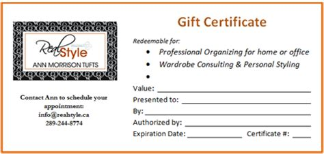 donation gift certificate template about real style
