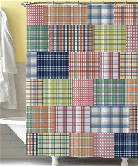 blue plaid shower curtain blue preppy plaid shower curtain plaid pink and look at