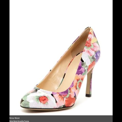 Joston Printed Peep Toe Wedges By Nine West by Nine West Nine West Floral Pumps From S Closet