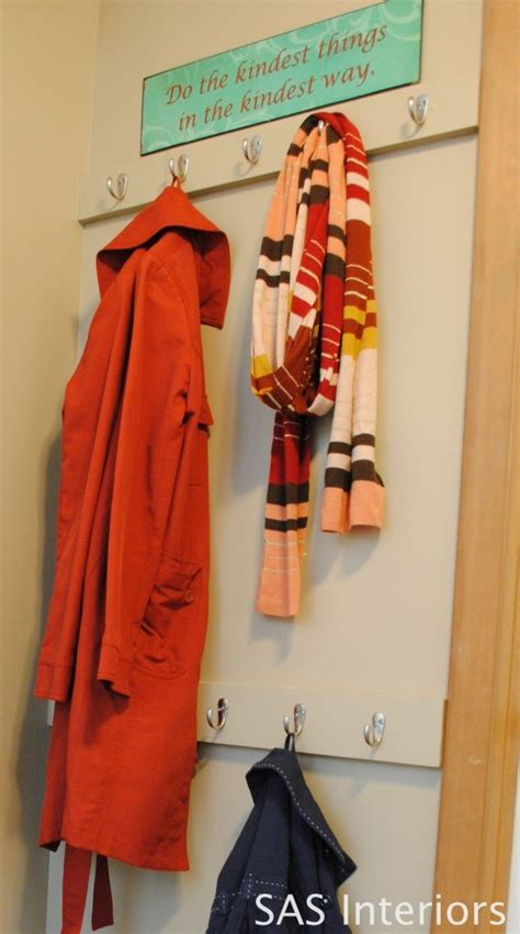 Built In Coat Rack by Diy Built In Wall Coat Rack For Small Spaces Projects