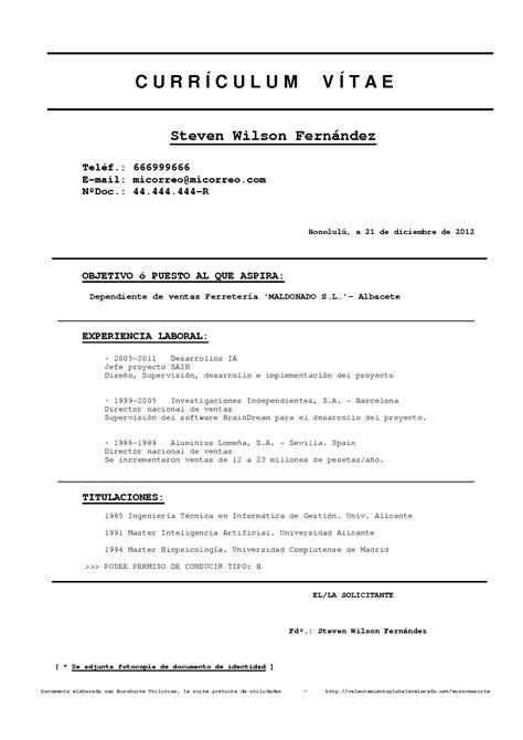Plantilla De Curriculum Vitae Americano Plantilla Curriculum Basico Para Rellenar Modelo Curriculum Apexwallpapers