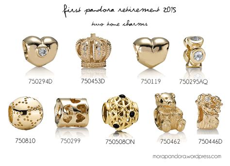 Charm Gold list of pandora gold charms search pretty