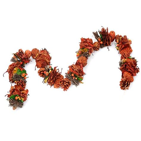 artificial rustic festive garland decorative autumn