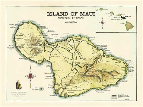 printable road map maui hawaii maui maps printable antique hawaiian map