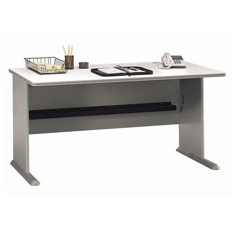 60 Computer Desk Bush Bbf Series A 60w Hutch In Pewter 13193