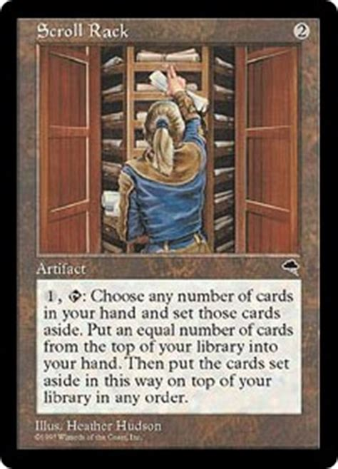 Scroll Rack Mtg by Scroll Rack Tempest Gatherer Magic The Gathering