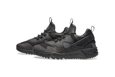 Sepatu Nike Huarache Black Black Premium Quality nike air huarache utility premium in black anthracite hypebeast