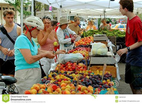 A New Way Of Shopping With Marketplace by Nyc Lincoln Square Farmer S Market Editorial Photo