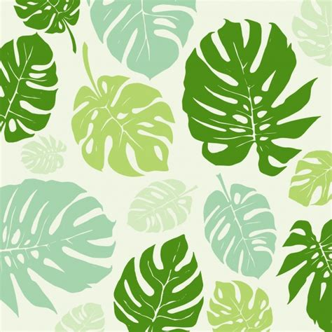 leaf pattern vector background green leaves pattern background vector free download