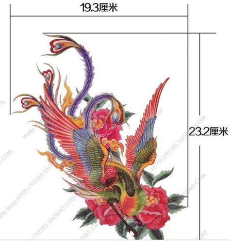 tattoo burung phoenix phoenix bird animal large temporary from coolfashion4u on etsy