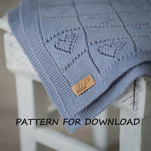 knit baby blanket pattern in knitting pattern for