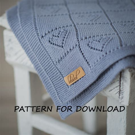 heart pattern baby blanket knit baby blanket pattern knitting pattern for babies by