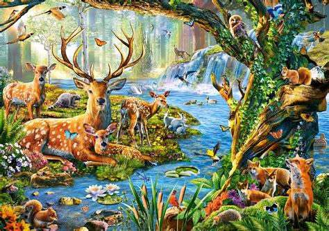 puzzle forest life castorland 52929 500 pieces jigsaw