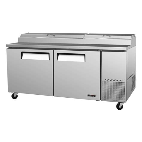 turbo air tpr 67sd n pizza prep table two doors 9