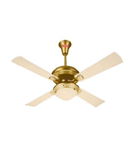 gold ceiling fan usha 1270mm premium ceiling fan fontana one gold ivory by