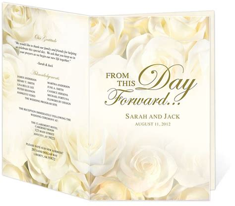 wedding program cover templates 18 best images about wedding programs design templates on