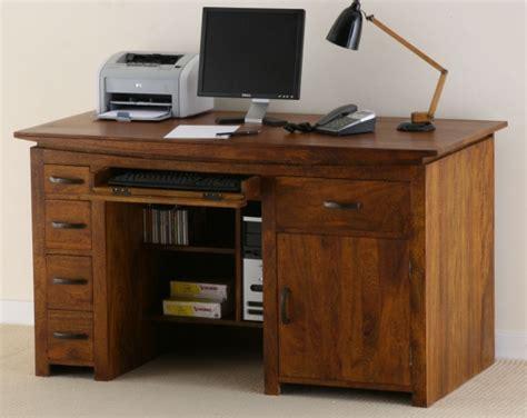 teak computer desk oak furniture land tokyo brown teak mango computer desk
