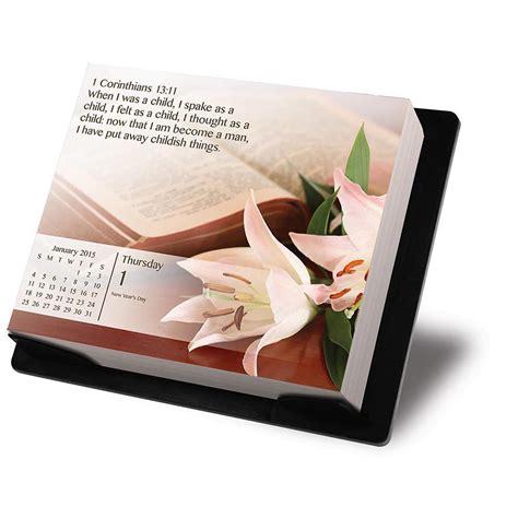 Inspirational Desk Calendar by Bible Verses 2015 Desk Calendar 9781438831688 Religion