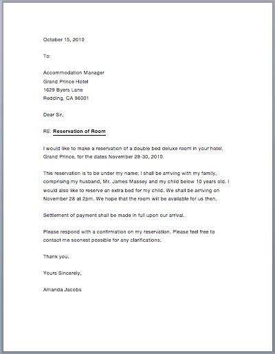 cancellation letter for booking sle hotel reservation letter free sle letters